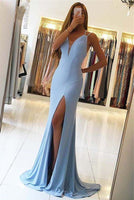 Gorgeous Sleeveless Mermaid Evening Dress Slit Long Prom Dress  cg677