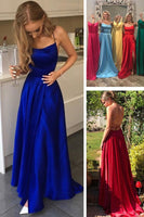 simple long prom dresses, 2019 prom dresses, royal blue prom dresses, red prom dresses, graduation dresses cg678