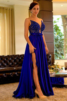 2020  long prom dress blue charming dress cg6853