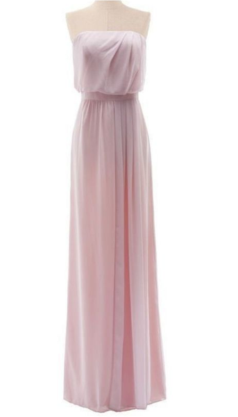 Strapless Chiffon prom Gown With Natural Waist  cg7005