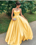 Prom Dresses Split, Yellow prom party dress  cg7094