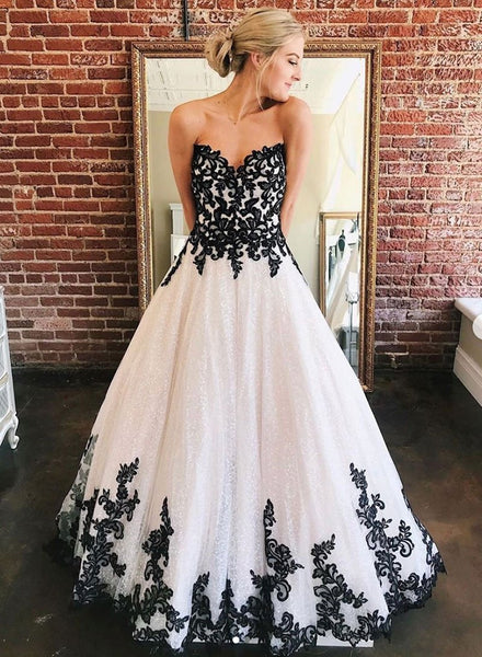 Black lace tulle long prom dress, evening dress cg719
