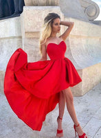 Red sweetheart neck short homecoming dress, red homecoming dress cg721