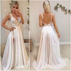 Sexy Backless Lace Prom Dresses, Evening dress,Cheap Evening Dress  cg7256