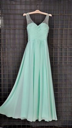 Simple Prom Dress,Prom Gown,Long Evening Gowns,Mint Green Prom Dresses for Teens  cg7632
