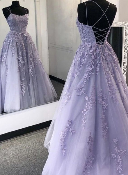purple prom dress, lace evening dress, formal dress  cg7792