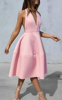 Open Back Pink Homecoming Dresses Simple Fashion Short homecoming Dress Party Dress cg786