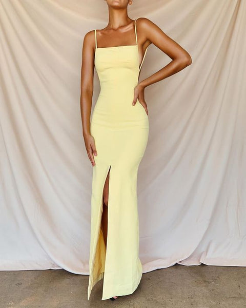 Sexy Prom Dresses Side Slit Prom Dress cg7889