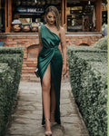 long prom dresses, green evening dresses  cg7894