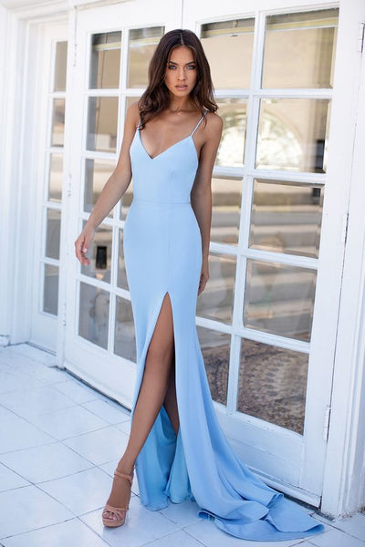 Sky Blue Bodycon Formal/Prom Dress  cg7946
