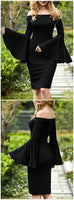 Sexy homecoming Dress,black sheath Evening Dress,Formal Long Dress cg803