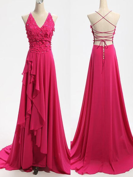 Sexy Prom Dresses,Handmade Floral Evening Party Dresses,Backless Sexy Graduation Dresses  cg8079