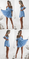 A-Line Spaghetti Straps Short Sky Blue Lace Homecoming Dress,Formal Homecoming dress cg81