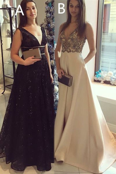 Gorgeous Long Prom Dress, Black Lace Prom dress cg8280