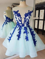 Sleeveless Lace Appliques Homecoming Dresses,Tulle Cocktail Dresses cg830