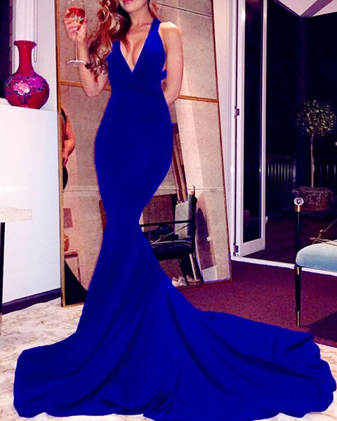 Sexy Mermaid Prom Dresses Backless Evening Gown 2020  cg8388