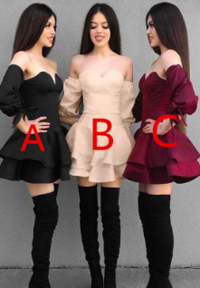 Off the Shoulder Sweetheart Long Sleeves Short Homecoming Dresses cg870