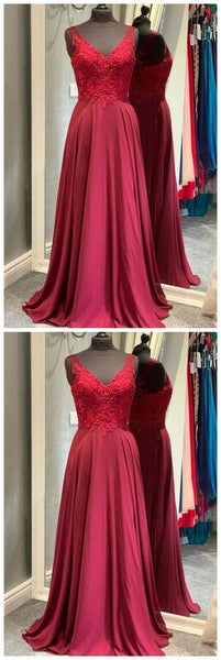 red long prom dress, simple prom dress 2020  cg8723