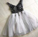 short tulle homecoming dresses sequin beaded cg876