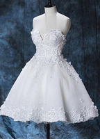 Chic Lace Sweetheart White Homecoming Dresses Short homecoming Dress cg879