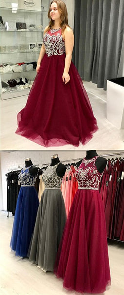 Burgundy Prom Dress, long prom dress, evening dress, prom dresses  cg8838