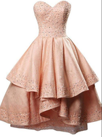 Princess Dress, Sweetheart Party Dress, Lace Homecoming Dress, Sequins  Dress, A-line Dress, Short Party Dresses cg904
