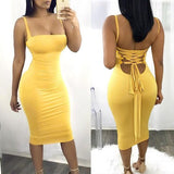 Mermaid Bodycon Dress , open back yellow homecoming dress cg917