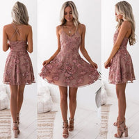 Cheap Fetching Blush Party Dresses, A-Line Homecoming Dress, Appliques Party Dresses  cg93