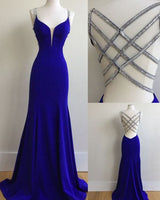Royal Blue Prom Dress For Teens, Prom Dresses, Graduation School Party Gown cg982