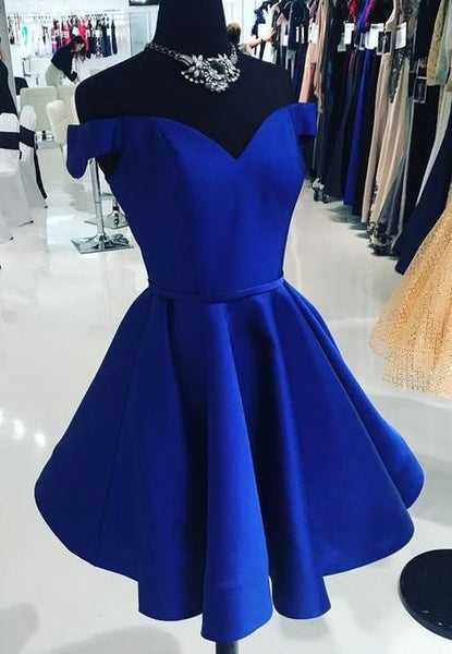 Short Royal Blue Dress, Homecoming Dresses, Graduation School  cg98