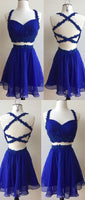 Homecoming Dress, Blue Dress, Cute Homecoming Dresses, Homecoming Dresses Two Piece cg99
