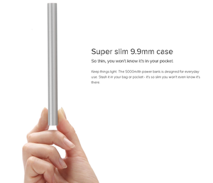 Mi Power Bank 5000mAh Super Slim10.7mm Thickness