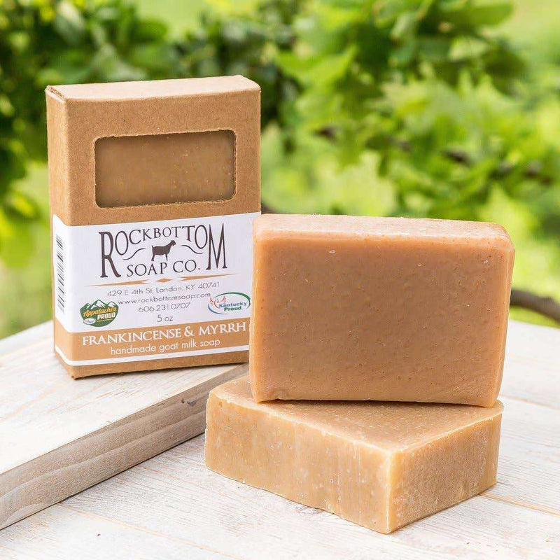 Rock Bottom Soap - Frankincense & Myrrh Goat Milk Soap - The Dashing Squad