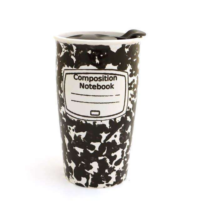 Composition Notebook Travel Mug - Lenny Muf - The Dashing Squad