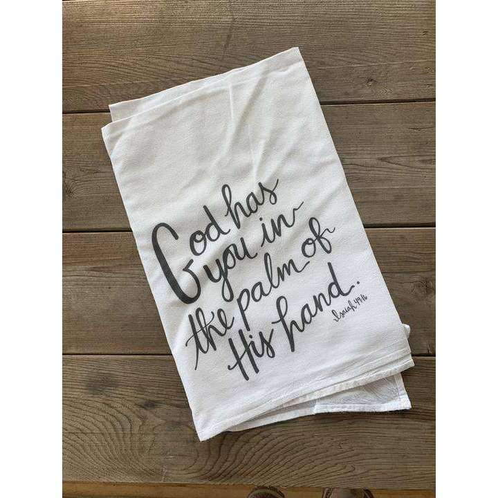 Modern Burlap - Flour Sack Tea Towel- Isaiah 49:16 - The Dashing Squad