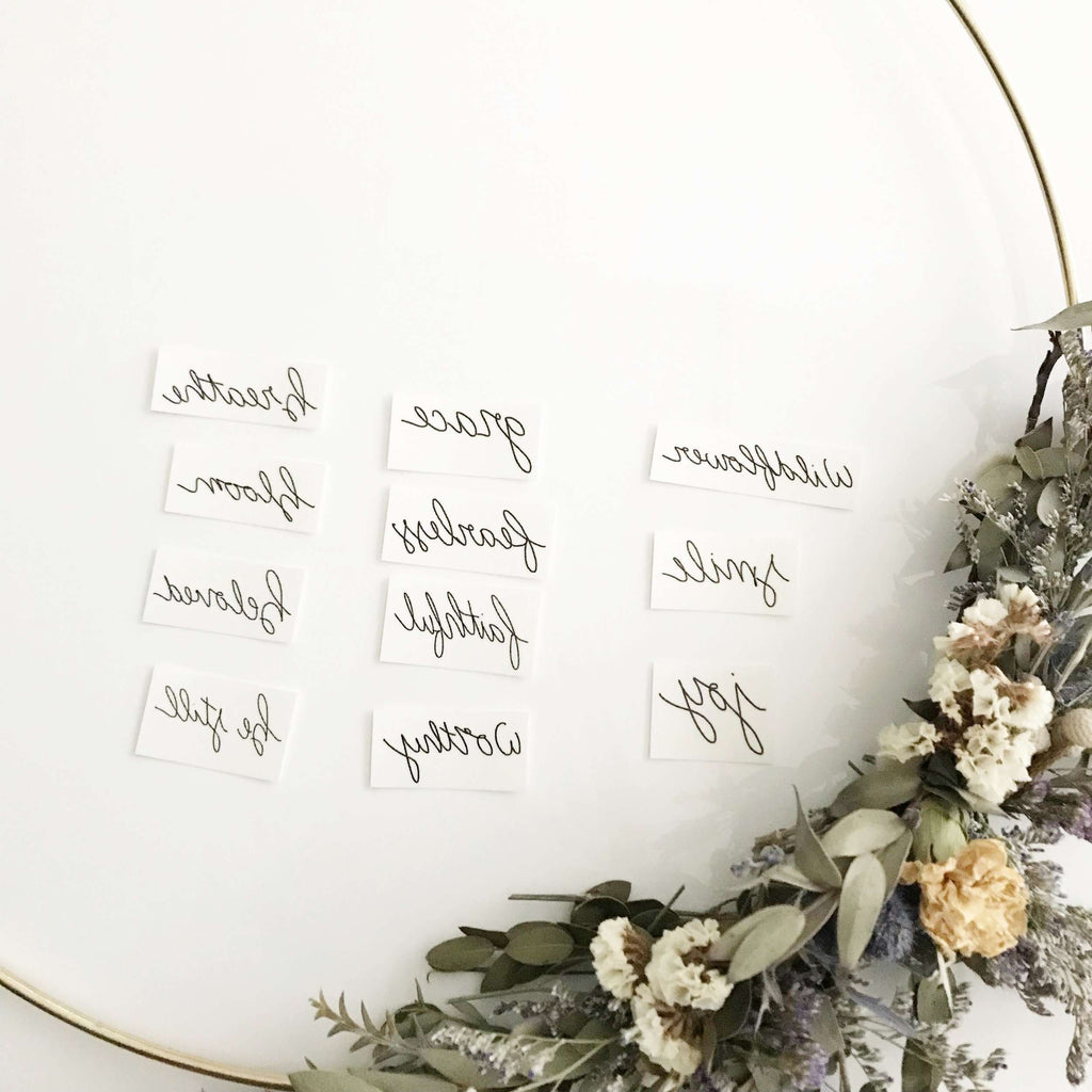 Wild Temporary Tattoo - Words for a Season - The Dashing Squad