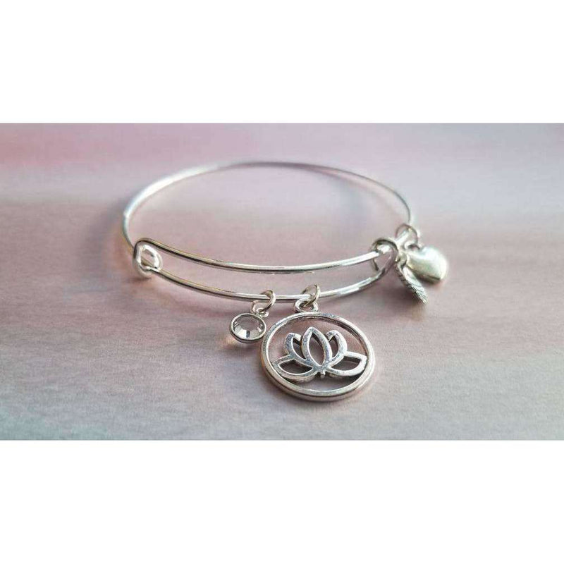 MKayAccessories - Inspirational Bracelet, Charm bracelet, lotus bracelet - The Dashing Squad