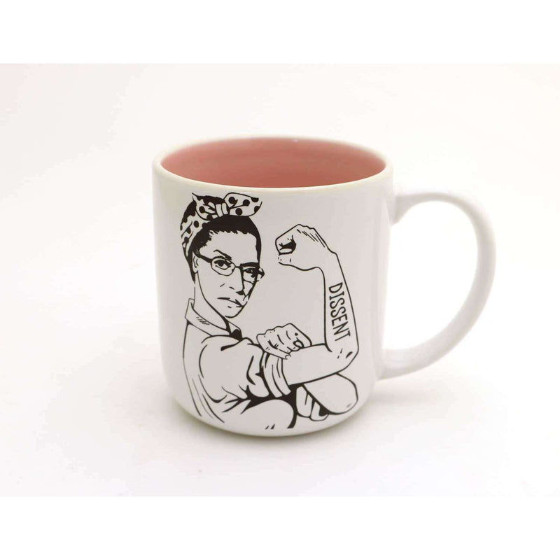 Lenny Mud - RBG mug, Ruth Bader Ginsburg mug, Dissent - The Dashing Squad