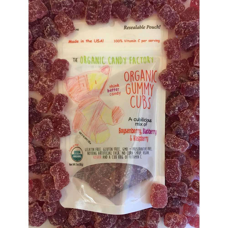 Organic Candy Factory - Berry Gummy Cubs - (Case of 10 3oz. bags) - The Dashing Squad