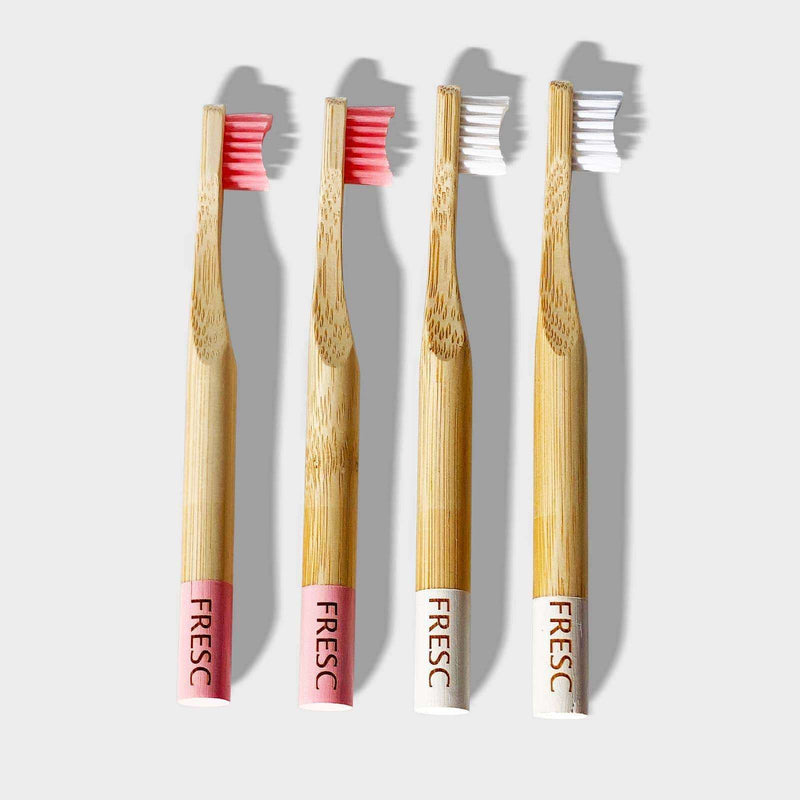 Fresc Oral Care - Kids Bamboo Toothbrush 4PC - The Dashing Squad