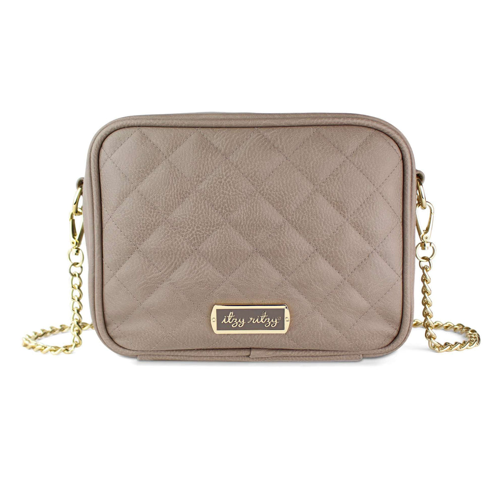 Itzy Ritzy Taupe Crossbody Diaper Bag. Pre-order - The Dashing Squad