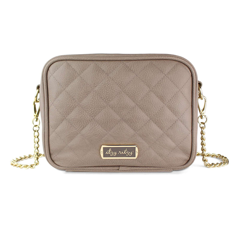 Itzy Ritzy Taupe Crossbody Diaper Bag. Pre-order