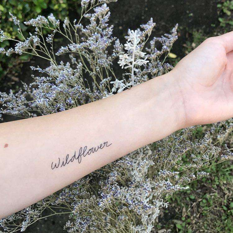 Wildflower Temporary Tattoo - Words for a Season - The Dashing Squad