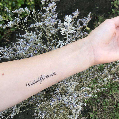 Strong Temporary Tattoo - Words for a Season