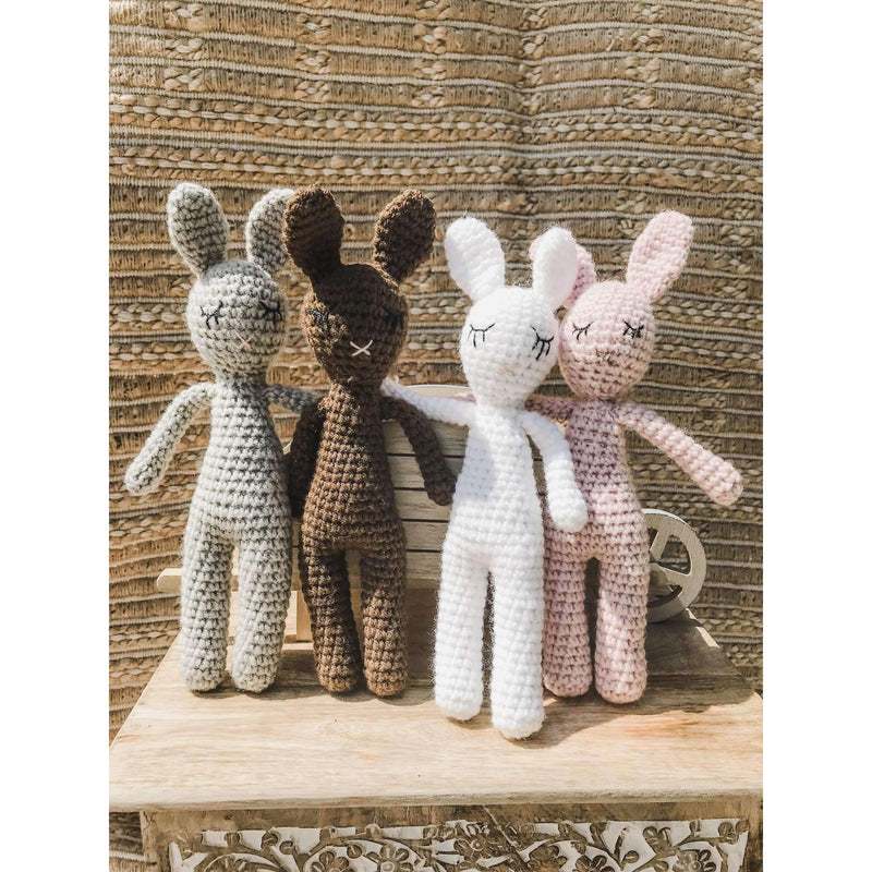 Crochet Bunny (Grey) 11 inches