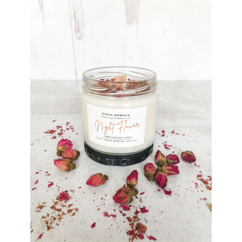 Hand-Pour Soy Candle - Night Flower - The Dashing Squad