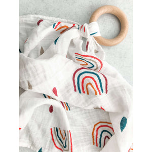 Teether & Muslin Blanket