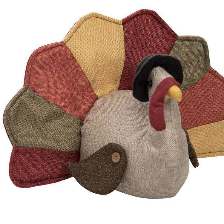 Fabric Harvest Turkey Door Stopper