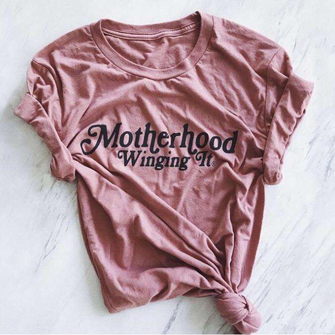 Mom Culture. Motherhood Winging it Tee - The Dashing Squad