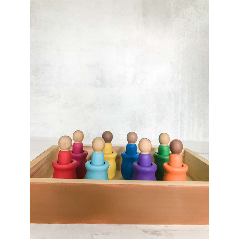 Multicultural Nesting Dolls + Tray - The Dashing Squad